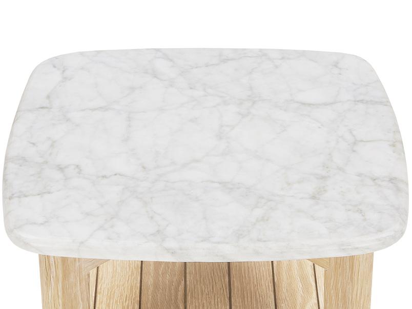 Marbler top side table - top detail