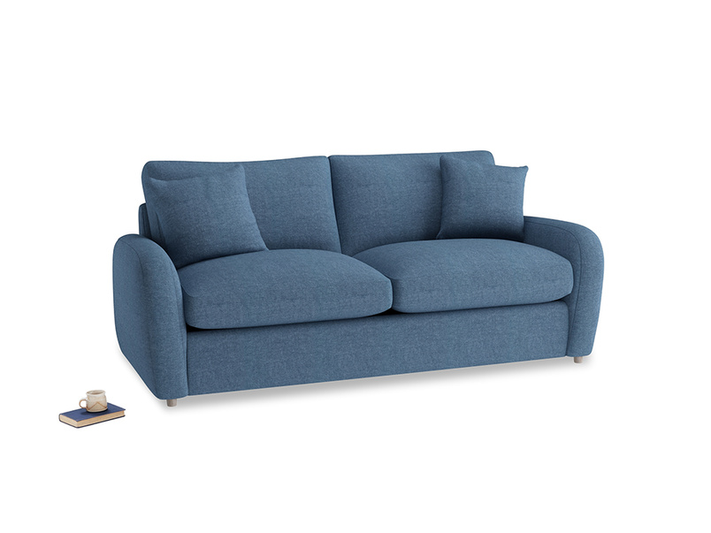 Medium Easy Squeeze Sofa Bed in Inky Blue Vintage Linen