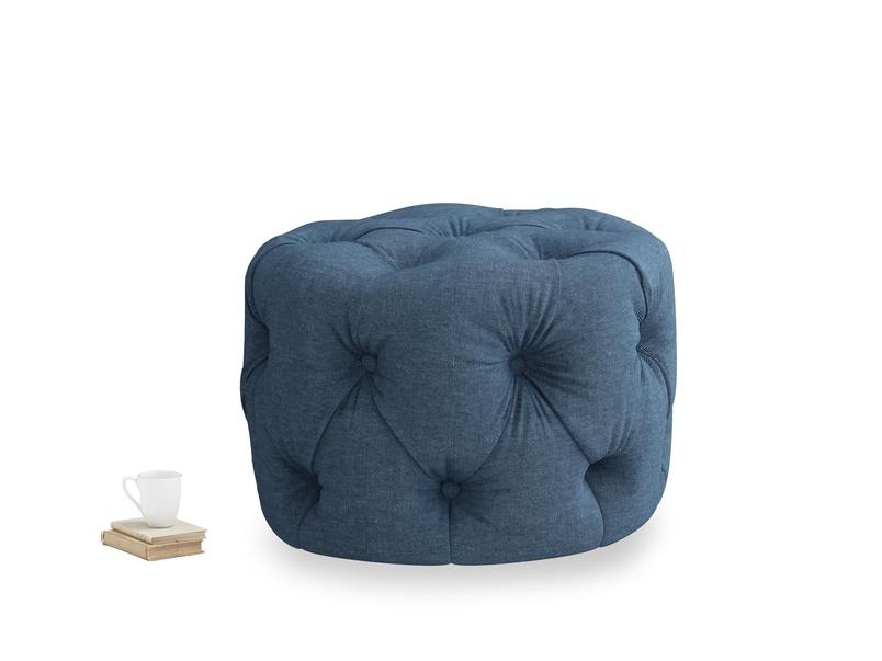 Gumdrop in Inky Blue Vintage Linen