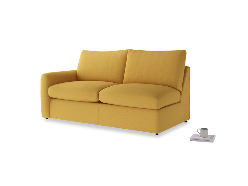 Chatnap Storage Sofa in Burnt Ochre Vintage Linen with a left arm