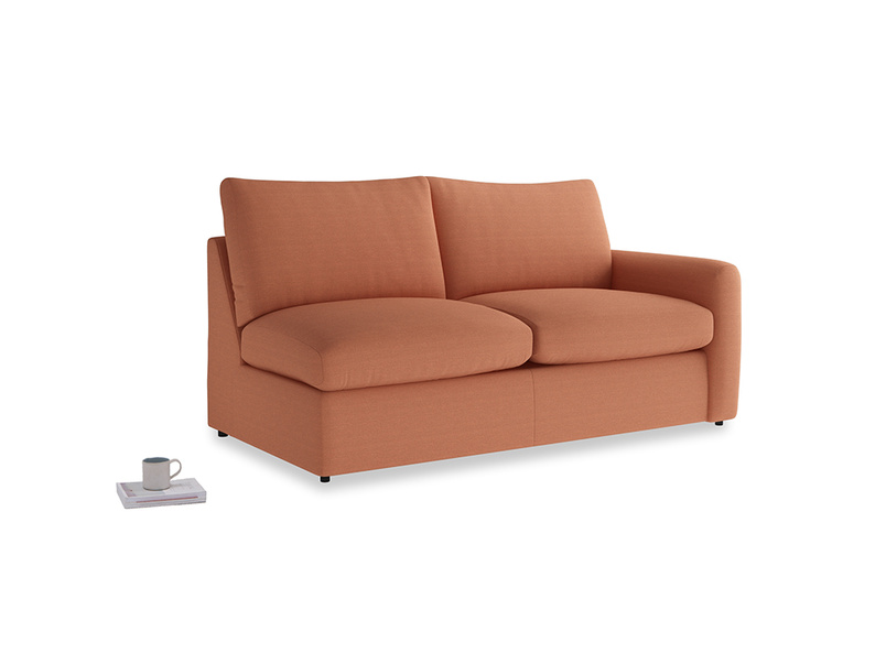Chatnap Storage Sofa in Burnt Umber Vintage Linen with a right arm