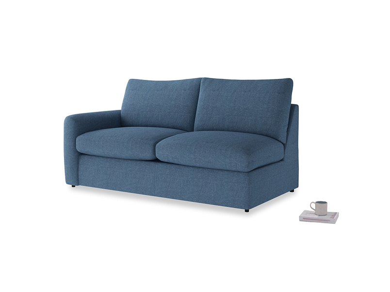 Chatnap Storage Sofa in Inky Blue Vintage Linen with a left arm