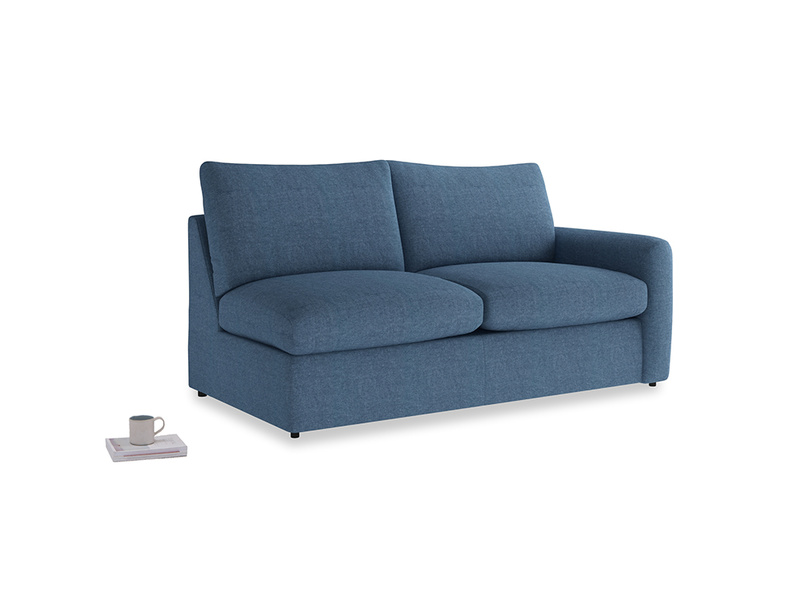 Chatnap Storage Sofa in Inky Blue Vintage Linen with a right arm