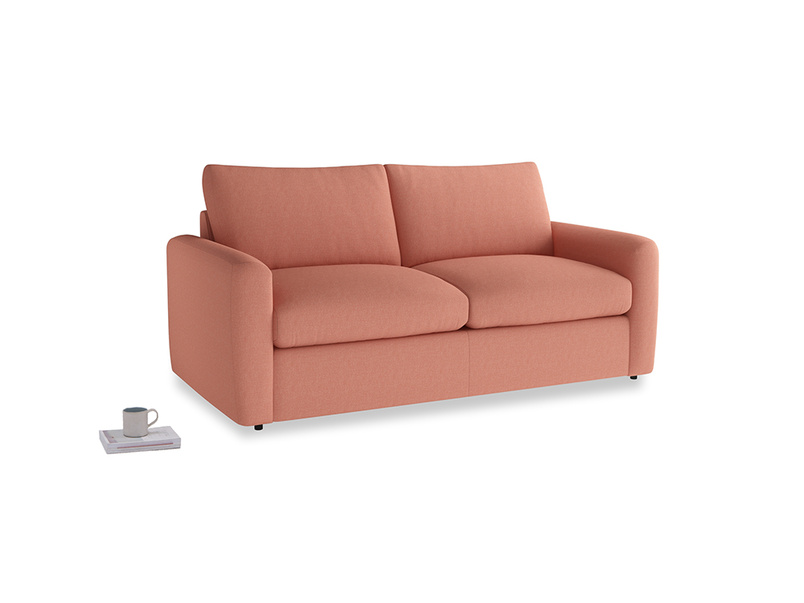Chatnap Storage Sofa in Tawny Pink Brushed Cotton with both arms