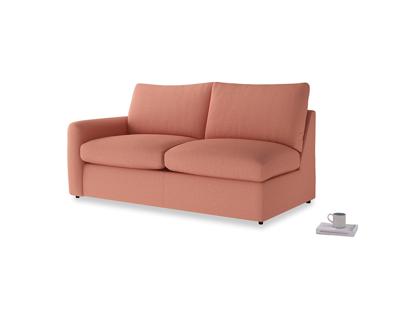 Chatnap Storage Sofa in Tawny Pink Brushed Cotton with a left arm