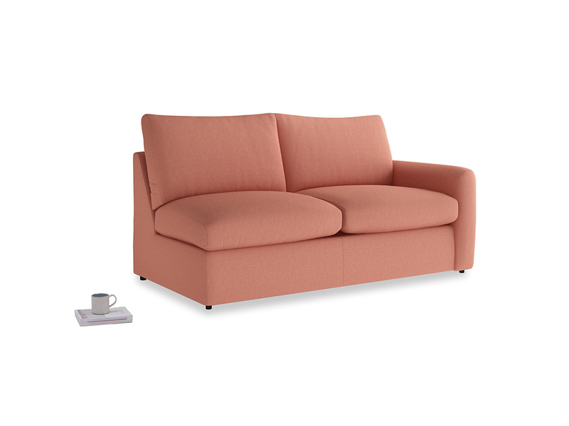 Chatnap Storage Sofa in Tawny Pink Brushed Cotton with a right arm