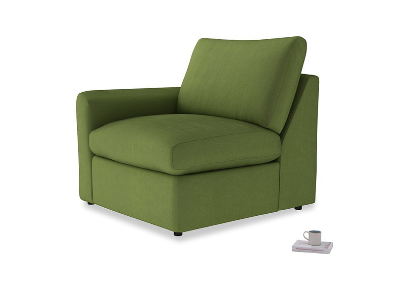 Chatnap Storage Single Seat in Olive Vintage Velvet with a left arm