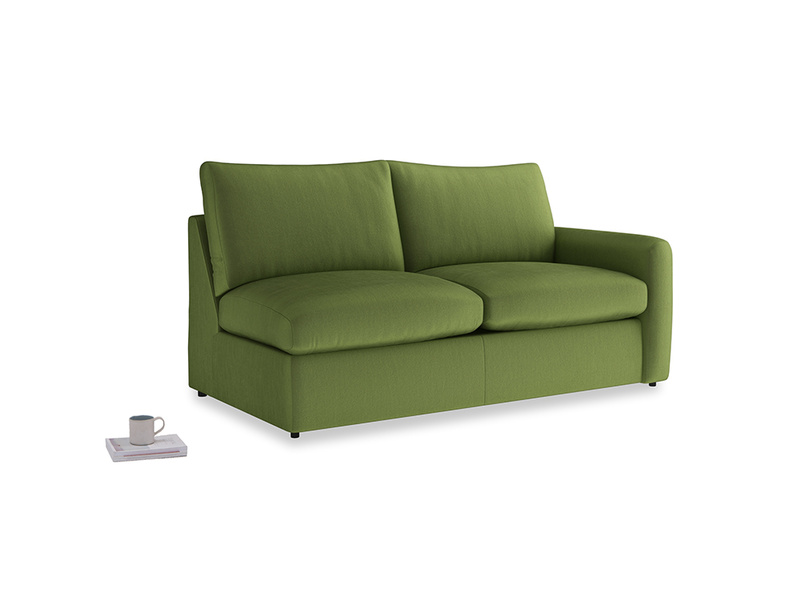 Chatnap Storage Sofa in Olive Vintage Velvet with a right arm