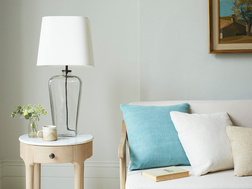 Bert Clear Rectangle Glass Table Lamp
