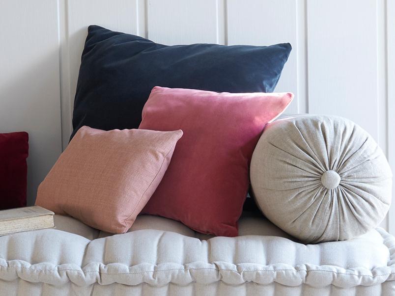 Bolster handmade linen cushion