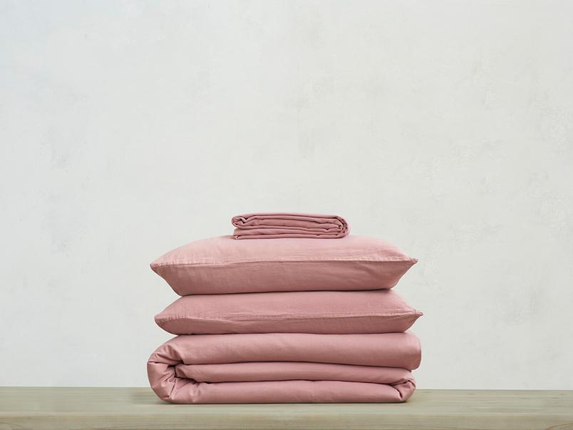 Lazy Cotton 100 percent super soft Bed sheets bundle in Old Rose