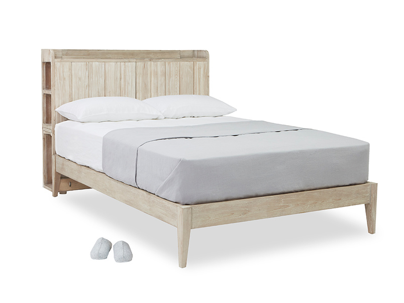 First Base bed frame with added headboard