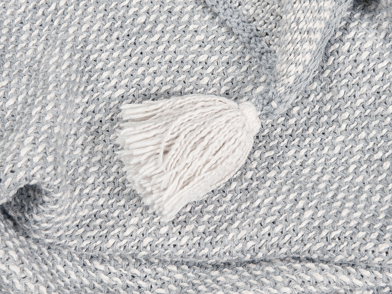 Floppy Knit knitted throw