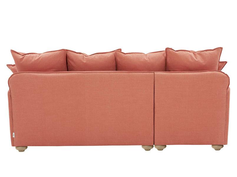 Smooch contemporary chaise sofa back detail