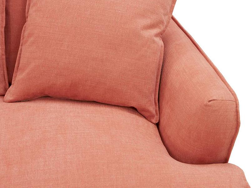 Smooch deep chaise sofa arm detail