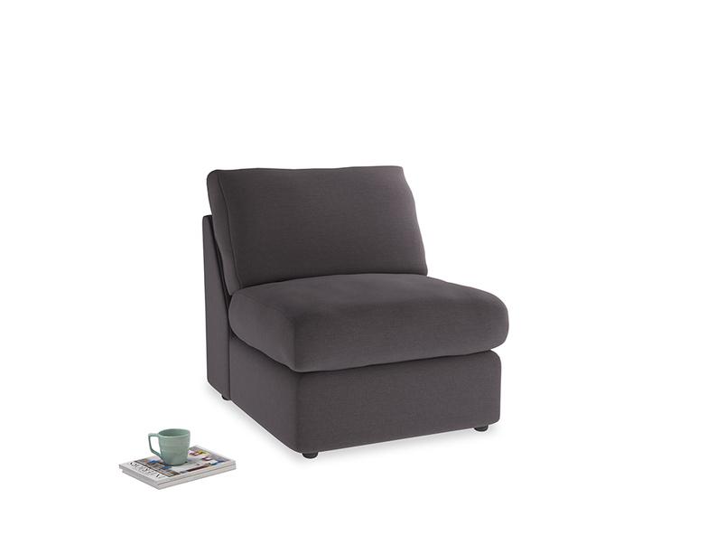 Chatnap Storage Single Seat in Faded Noir Vintage Linen