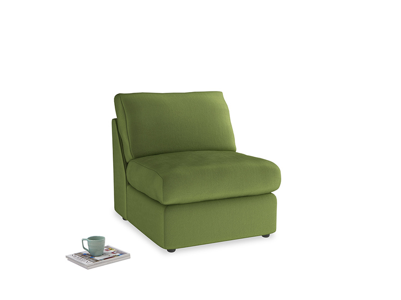 Chatnap Storage Single Seat in Olive Vintage Velvet