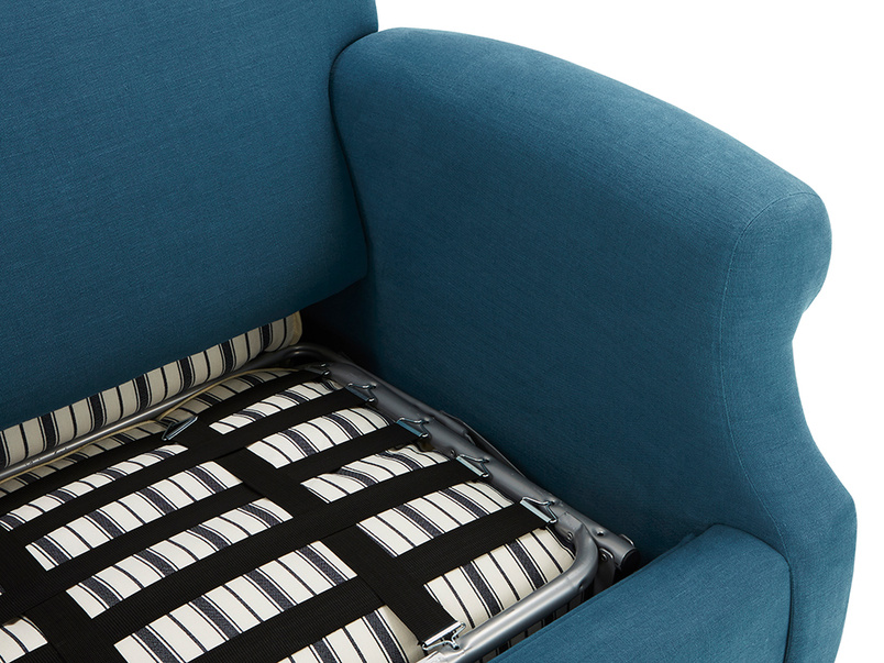Crumpet Love Seat Sofa Bed folded in mattress detail