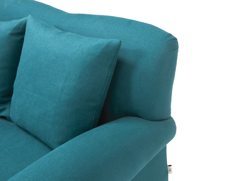 Fabric Crumpet love seat chaise