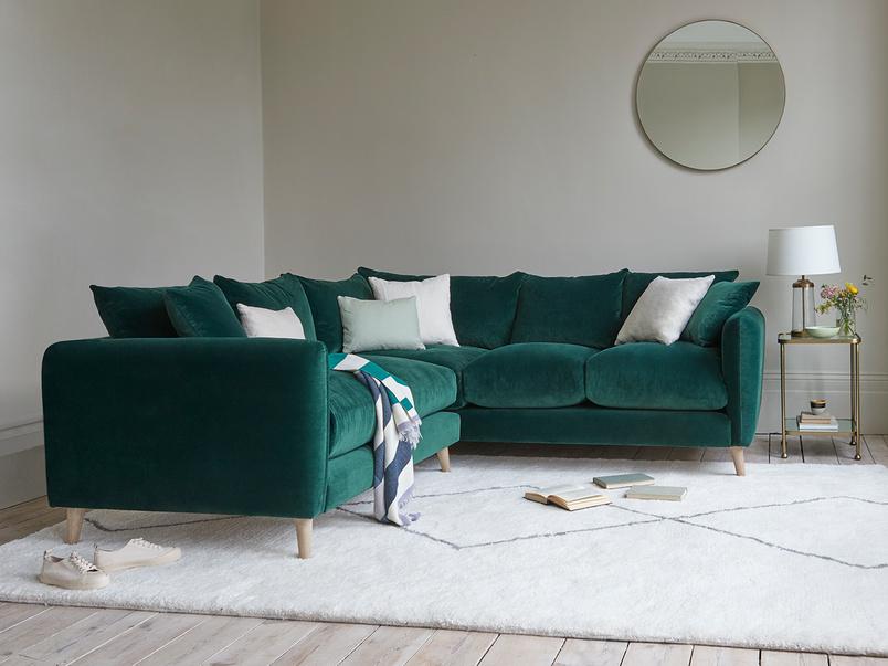 Squishmeister modern corner sofa