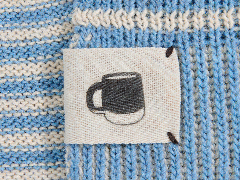 Easy Knit Throw blanket in Blue