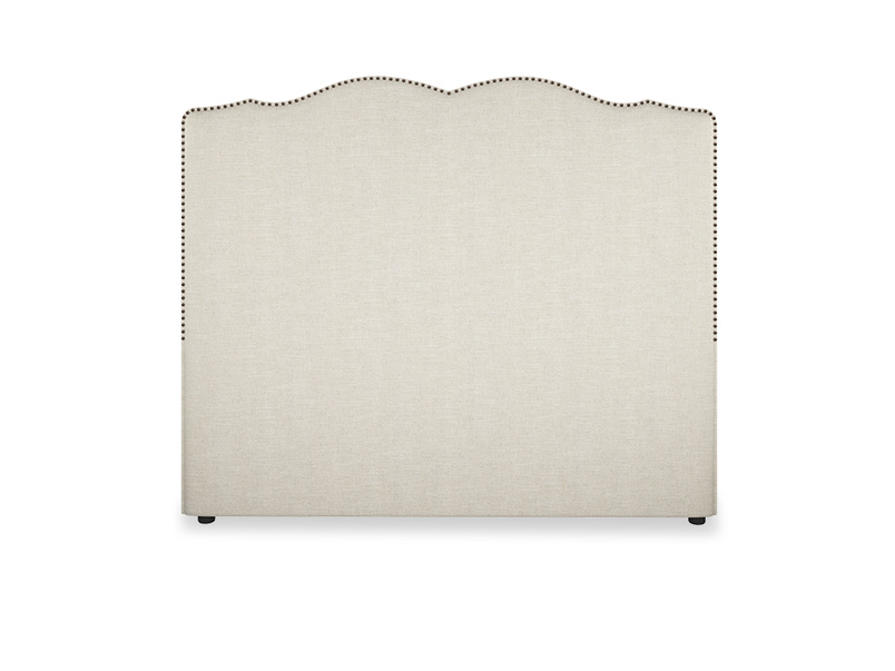 French studded upholstered Marie headboard