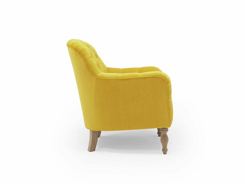 Reader button back armchair