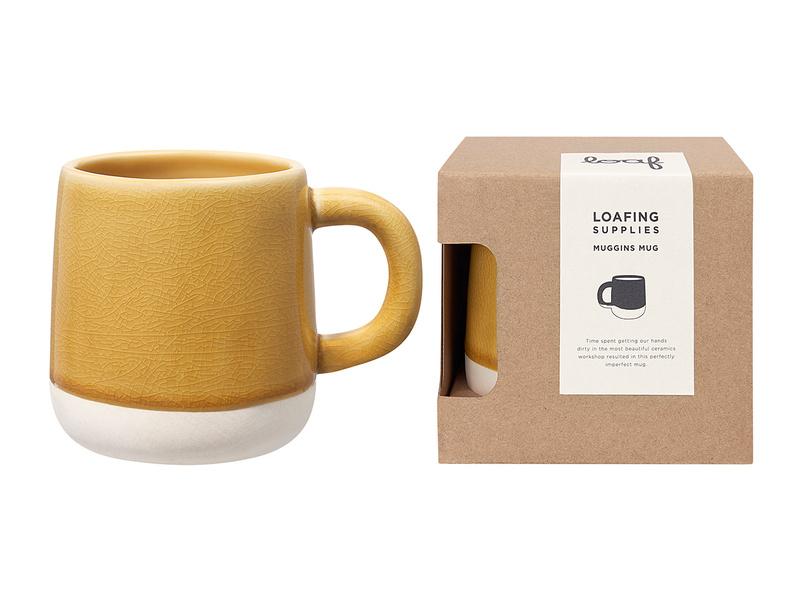 Muggins Coffee Mug in Burnt Custard yellow
