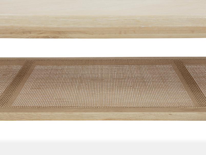Throwback Coffee Table Rattan Shelf Detail