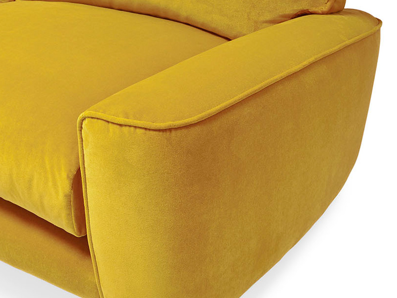 Strudel low arm contemporary sofa