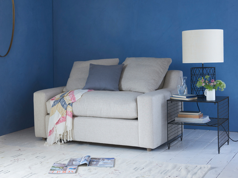 Contemporary comfy luxury single Cloud love seat sofa bed