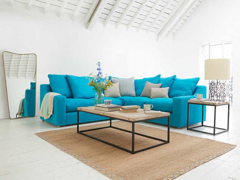 Contemporary L shape deep Cloud luxury corner sofa