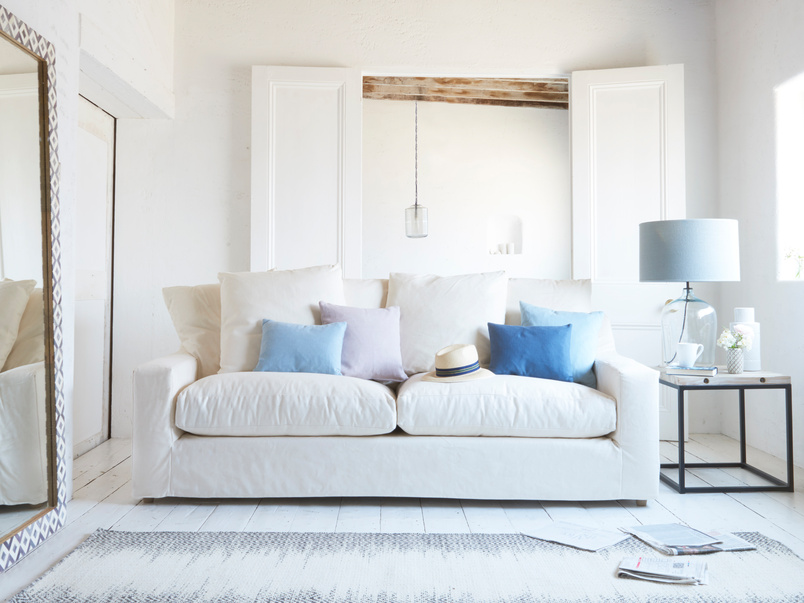 Cloud sofa in Oyster White clever linen