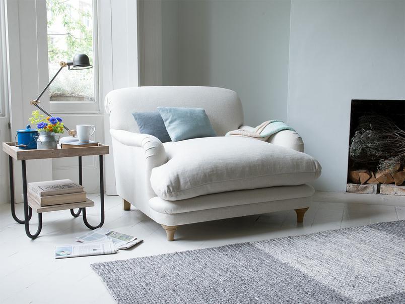 Pudding handmade love seat and snuggler sofa