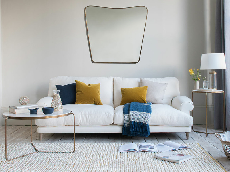 Slowcoach deep seated upholstered sofa