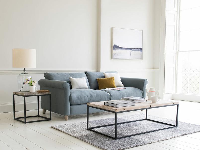 High armed fabric Weekender sofa