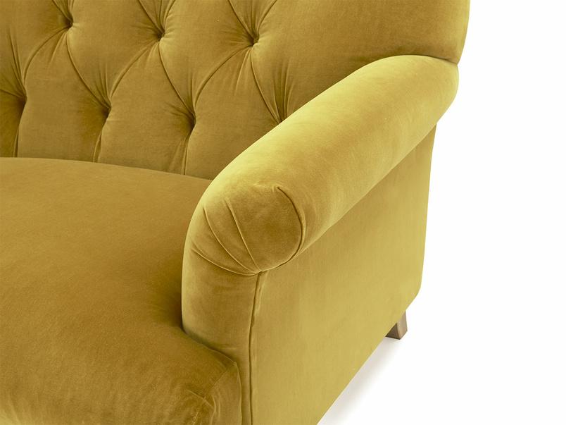 Truffle love seat button back