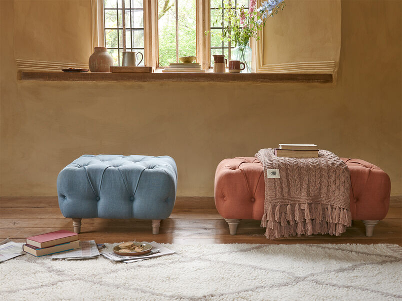 Treacle comfy upholstered footstool
