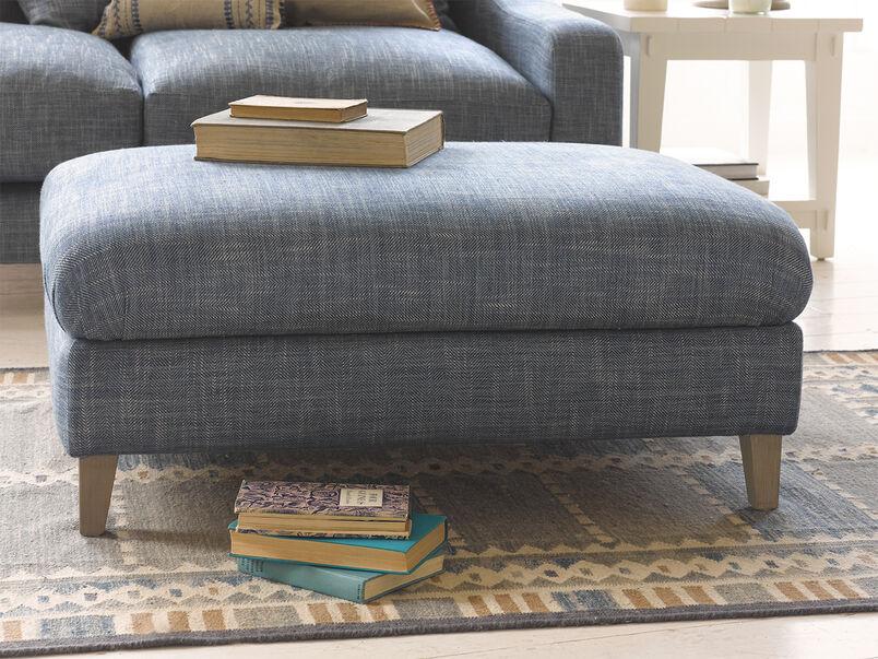 Legsie fabric large upholstered  footstool coffee table