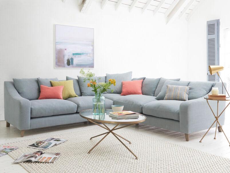 Deep luxury contemporary large modern Oscar corner sofa