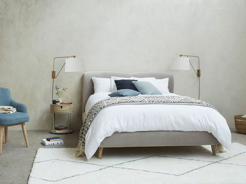 Curveball Upholstered Curved Headboard Bed