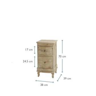 Bastille bedside table dimensions
