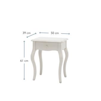 Mimi Scuffed Grey bedside table dimensions