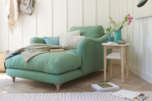 Bumpster love seat chaise