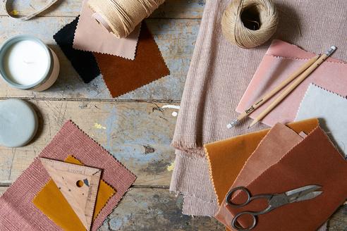 Loaf fabric moodboard