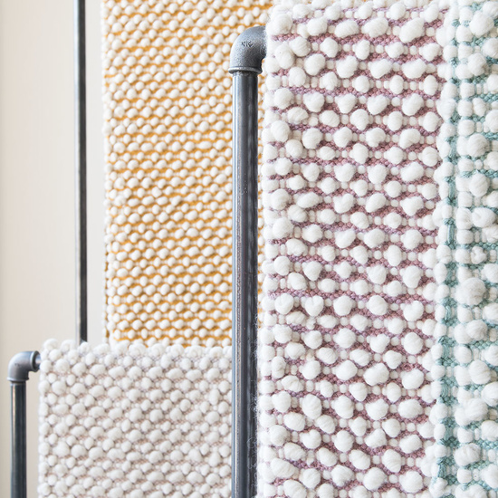 Bobble hand woven rugs