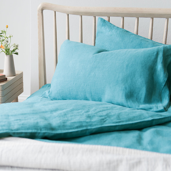 Kingfisher lazy linen bed linen