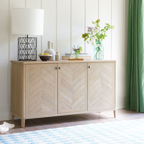 Grand Fandangle parquet style wooden sideboard