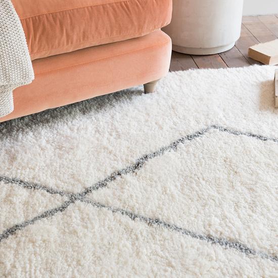 Casbah fluffy wool floor rug