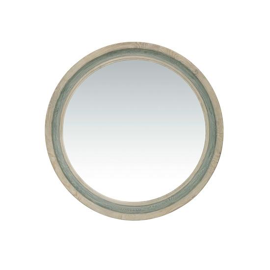 Round Dopple wooden frame round wall mirror